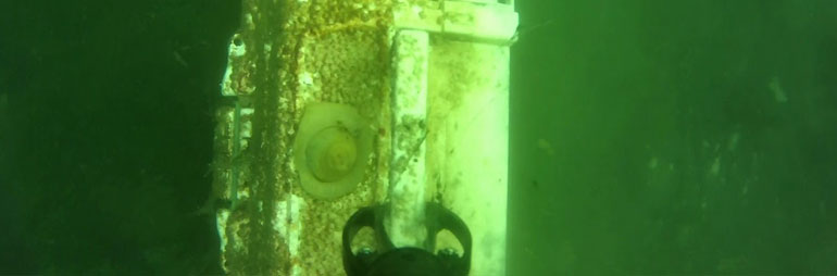 Tackle Box Recovered from Bottom Lake with Underwater Drone