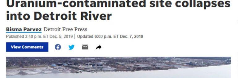 Uranium Contaminated Site Dumps into Detroit River