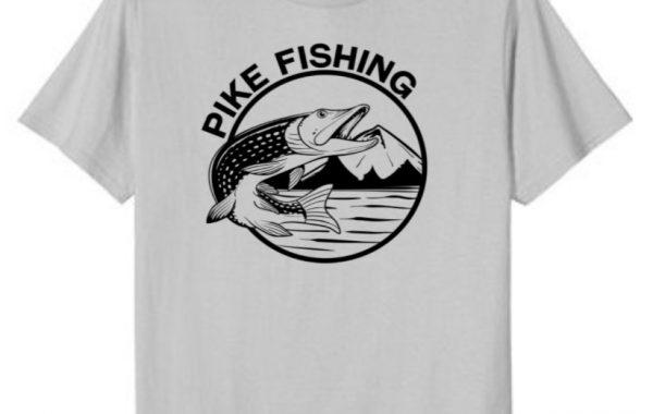 Jumping Northern Pike Fishing T-Shirt