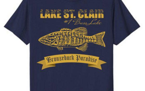 Lake St. Clair Bronzeback Paradise Smallmouth Bass Fishing Shirt