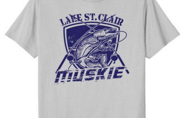 Lake St. Clair Muskie Trolling T-Shirt