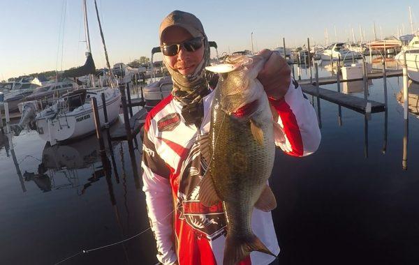 Big Largemouth Bass at Lake St. Clair Marina